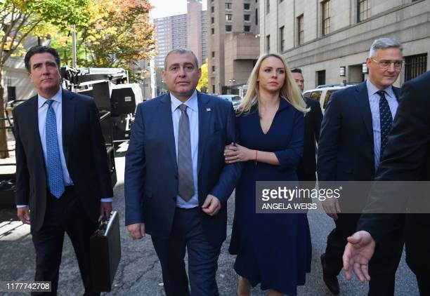 Lev Parnas a UkrainianFloridian businessman who is both a client and associate of Rudy Giulianis arrives for his arraignment in the Southern District...