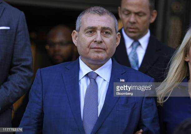 Lev Parnas an associate of US President Donald Trump's personal lawyer Rudy Giuliani exits federal court in New York US on Wednesday Oct 23 2019 Two...