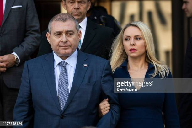 Lev Parnas and his wife Svetlana Parnas depart federal court following an arraignment hearing on October 23 2019 in New York City Lev Parnas and Igor...