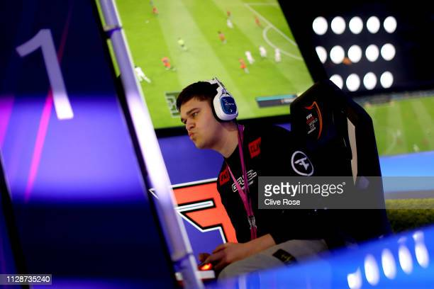 Lev Vinken of FaZe clan competes in the Finals of the FIFA eClub World Cup 2019 Knockout Stage Final on February 10 2019 in London England