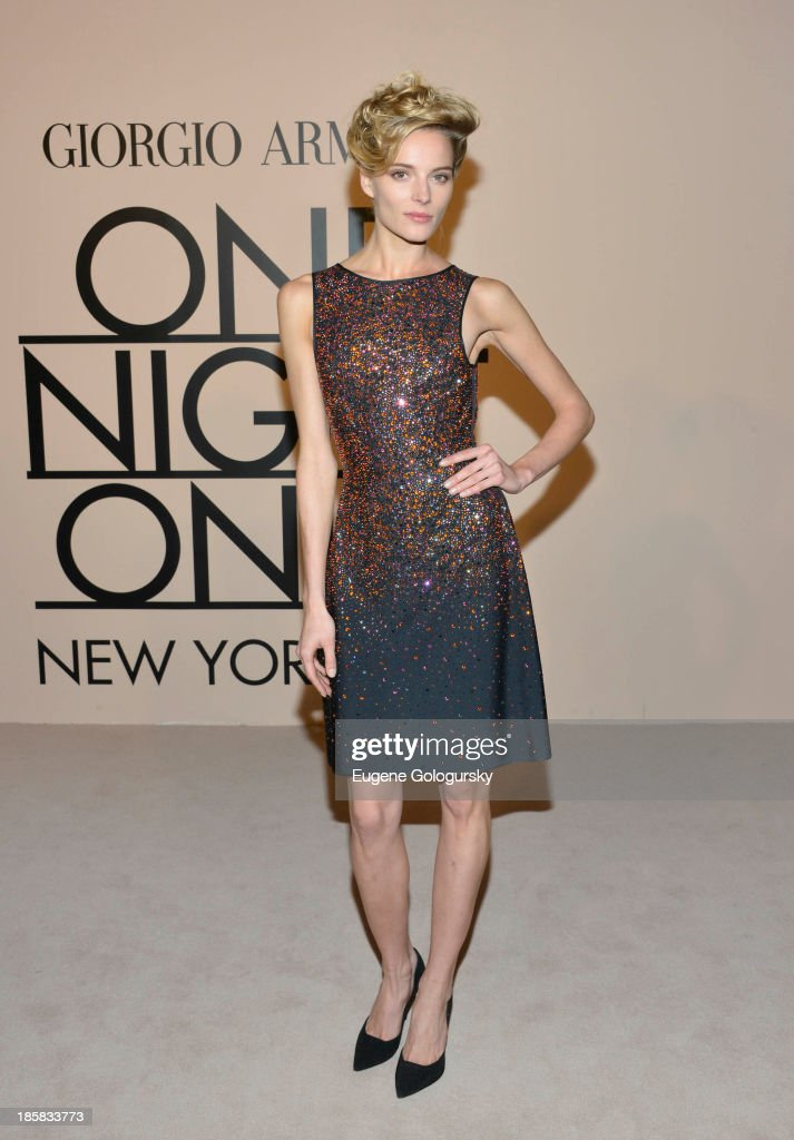 Leva Laguna attends Armani - One Night Only New York at SuperPier on October 24, 2013 in New York City.