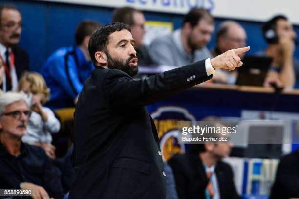 Levallois head coach Frederic Fauthoux during the Pro A match between Levallois and Limoges on October 7 2017 in LevalloisPerret France