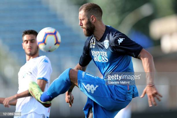 Levan Mchedlidze of Empoli FC in action during the preseason frienldy match between Empoli FC and Empoli FC U19 on August 9 2018 in Empoli Italy