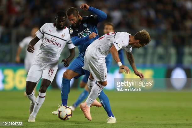 Levan Mchedlidze of Empoli FC in action during the serie A match between Empoli and AC Milan at Stadio Carlo Castellani on September 27 2018 in...