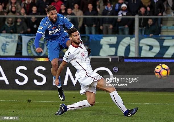 Levan Mchedlidze of Empoli FC scores a goa during the Serie A match between Empoli FC and Cagliari Calcio at Stadio Carlo Castellani on December 17...