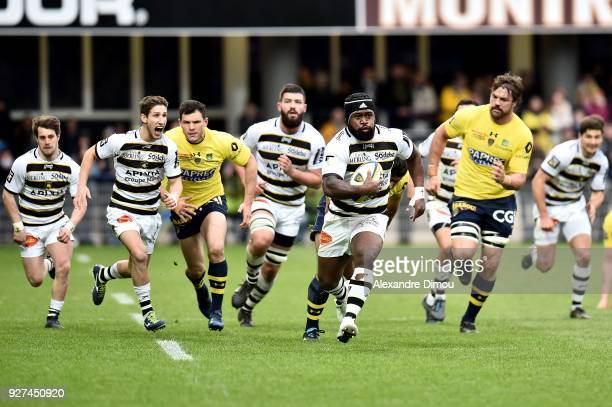 Levani Botia of La Rochelle during the French Top 14 match between Clermont and La Rochelle at Stade Marcel Michelin on March 4 2018 in...