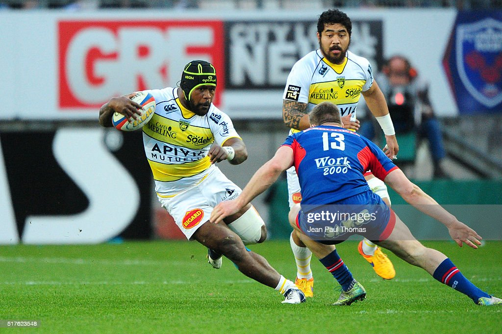 Levani Botia of La Rochelle during the French Top 14 rugby union match between Grenoble v Stade Rochelais ( La Rochelle ) at Stade des Alpes on March 26, 2016 in Grenoble, France.