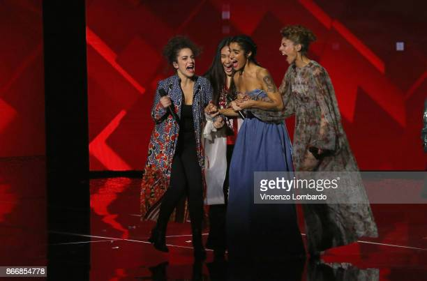 Levante and her team attends X Factor 11 on October 26 2017 in Milan Italy