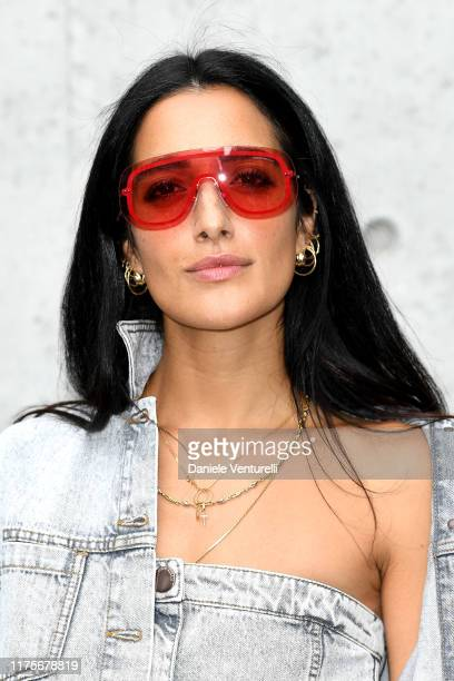 Levante attends the Emporio Armani fashion show during the Milan Fashion Week Spring/Summer 2020 on September 19 2019 in Milan Italy