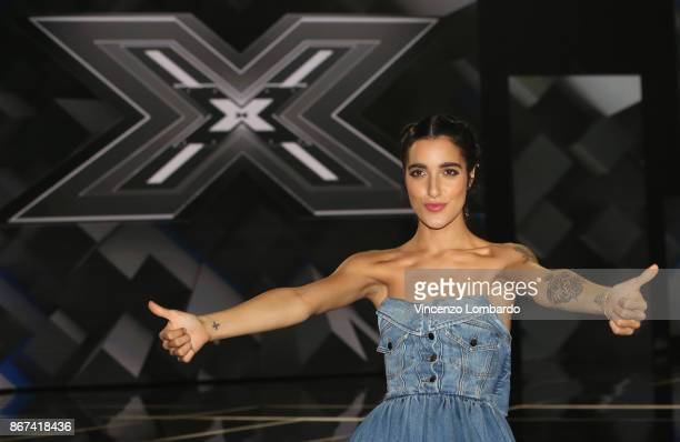 Levante attends X Factor 11 on October 26 2017 in Milan Italy