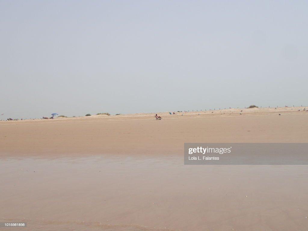 Levante Beach, Cádiz, Spain : Foto de stock