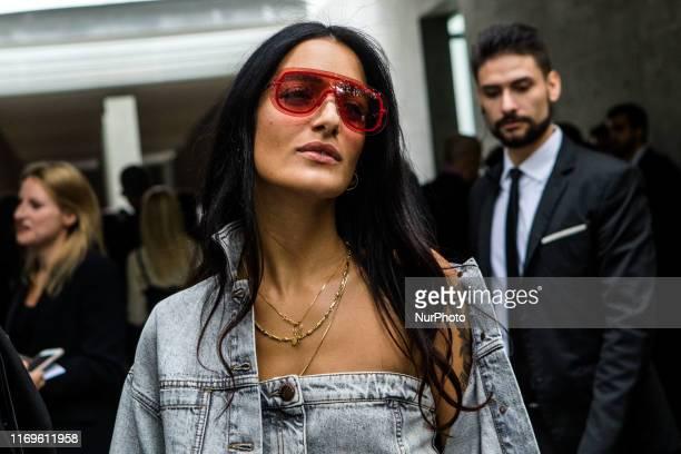 Levante outside Armani at Milan Fashion Week, Milano, Italy, on September 19 2019, Italy