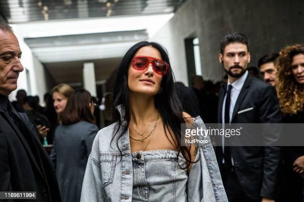 Levante outside Armani at Milan Fashion Week Milano Italy on September 19 2019 Italy