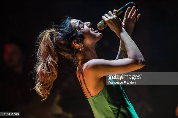 Levante performs on stage at Teadro Dal Verme on March 4 2018 in Milan Italy