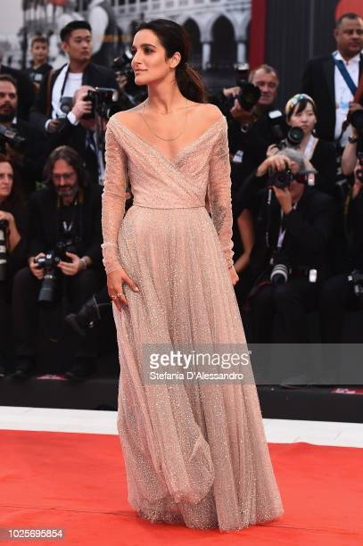 Levante walks the red carpet ahead of the 'A Star Is Born' screening during the 75th Venice Film Festival at Sala Grande on August 31 2018 in Venice...