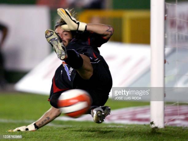 Levante´s goalkeeper Storari fails to stop a penalty during their Spanish League match against Sevilla at Ciudad de Valencia Stadium in Valencia 20...