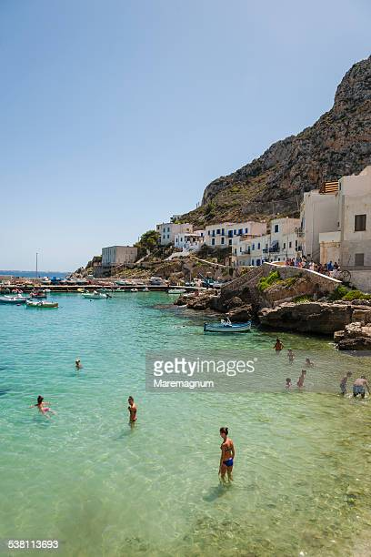 Levanzo, view of the village