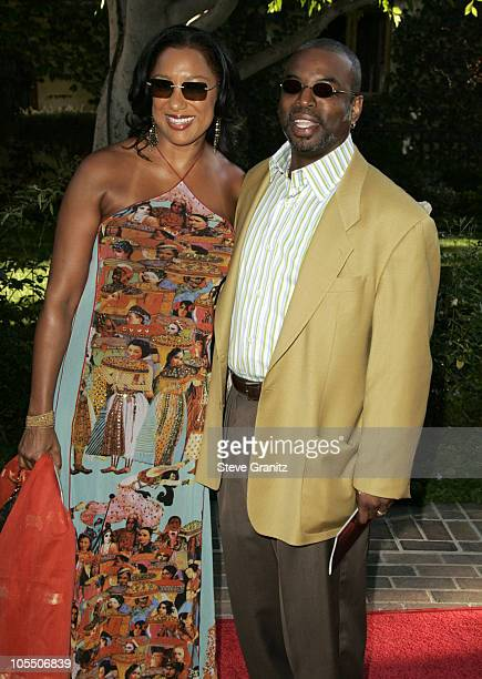 Levar Burton and Wife during 6th Annual Mercedes-Benz DesignCure at Home of Sugar Ray and Bernadette Leonard in Pacific Palisades, California, United...
