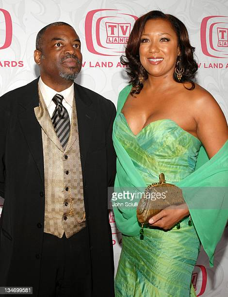 Levar Burton and wife Stephanie Cozart Burton during 5th Annual TV Land Awards Arrivals at Barker Hanger in Santa Monica CA United States