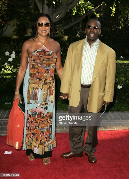 Levar Burton and wife Stephanie Cozart Burton during 6th Annual Mercedes-Benz DesignCure at Home of Sugar Ray and Bernadette Leonard in Pacific...