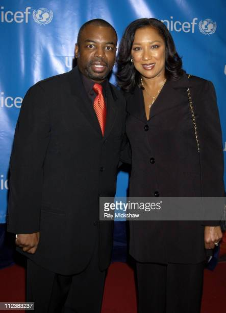 LeVar Burton and wife Stephanie Cozart Burton during UNICEF Goodwill Gala Celebrating 50 Years of Celebrity Goodwill Ambassadors - Red Carpet at The...