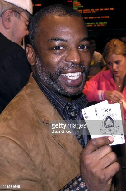 LeVar Burton during World Poker Tour Mirage Hotel and Casino March 24 2005 at Mirage Hotel and Casino in Las Vegas Nevada United States