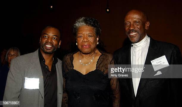 LeVar Burton, Maya Angelou and Louis Gossett Jr. During The DGA African-American Steering Committee Hosts a Tribute to Maya Angelou: Master...