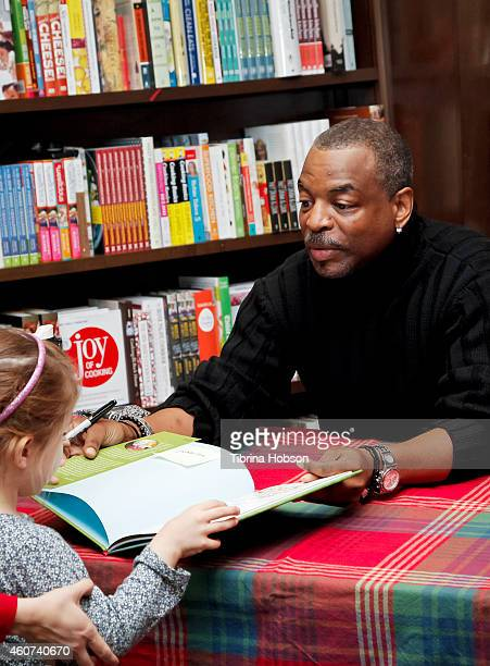 LeVar Burton signs and discusses his book 'The Rhino Who Swallowed A Storm' at Barnes Noble Booksellers on December 20 2014 in Burbank California