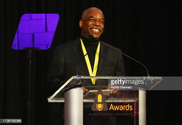 LeVar Burton speaks onstage during Tan France hosts the 2019 Audie Awards at Gustavino's on March 4 2019 in New York City