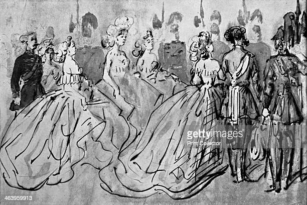 'Levee' Illustration from The Painter of Victorian Life a study of Constantin Guys with an introduction and a translation of Baudelaire's Peintre de...