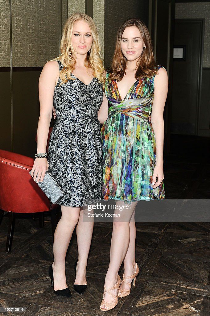 Leven Rambin and Christa B. Allen attend L.K. Bennett Tea Luncheon on March 14, 2013 in West Hollywood, California.