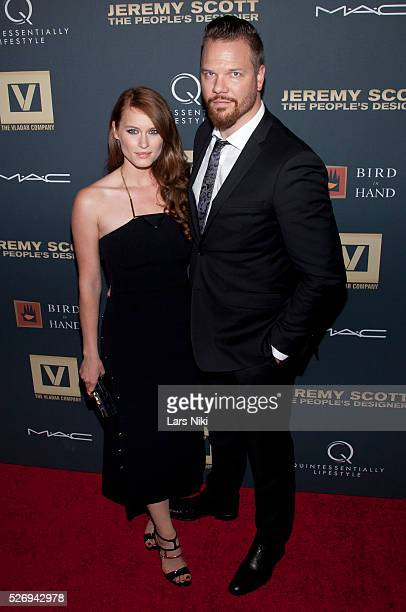 Leven Rambin and Jim Parrack attend Jeremy Scott The' People's Designer New York premiere at the Paris Theatre in New York City �� LAN