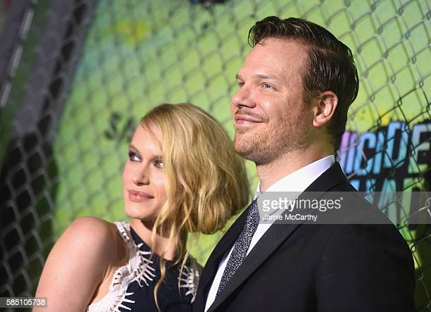 Leven Rambin and Jim Parrack attend the Suicide Squad World Premiere at The Beacon Theatre on August 1 2016 in New York City