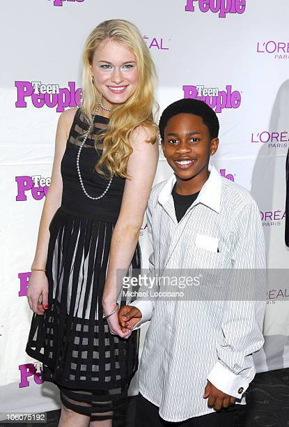 Leven Rambin and Malcolm David Kelley during Teen People Honors 20 Teens Who Will Change The World at Time Life Building in New York City New York...