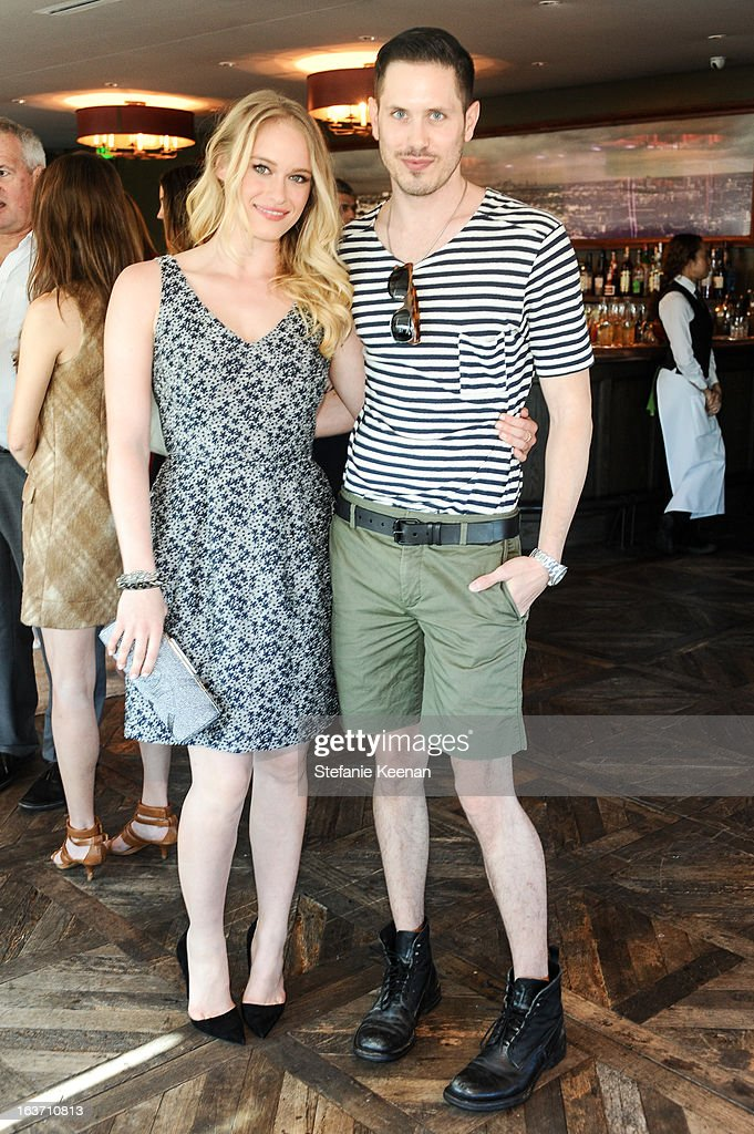 Leven Rambin and Sean Knight attend L.K. Bennett Tea Luncheon on March 14, 2013 in West Hollywood, California.