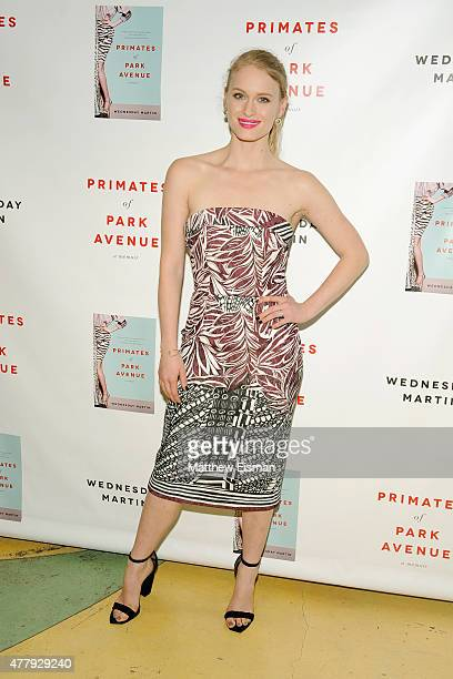 Leven Rambin attends Primates of Park Avenue by Dr Wednesday Martin Release Event at the Children's Museum of the East End on June 20 2015 in New...