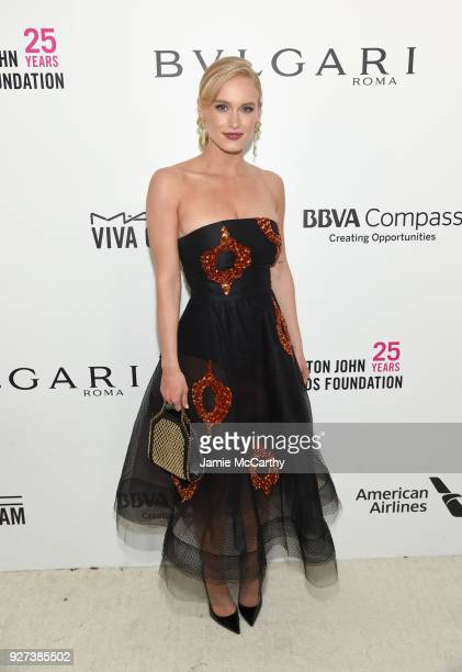 Leven Rambin attends the 26th annual Elton John AIDS Foundation Academy Awards Viewing Party sponsored by Bulgari celebrating EJAF and the 90th...
