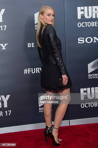 Leven Rambin attends the 'Fury' Washington DC Premiere at The Newseum on October 15 2014 in Washington DC
