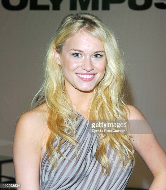 Leven Rambin during Olympus Fashion Week Spring 2007 Seen at Bryant Park Day 3 at Bryant Park in New York City New York United States