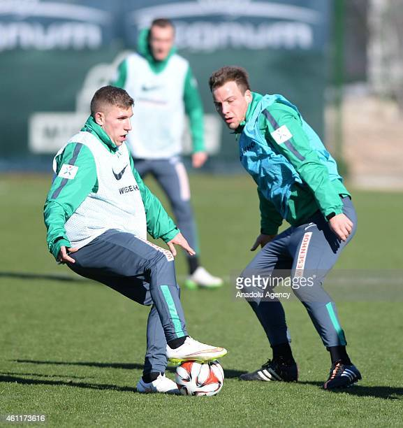 Levent Aycicek of SV Werder Bremen attends the team's training session before the second half of the season in Antalya Turkey on January 08 2015