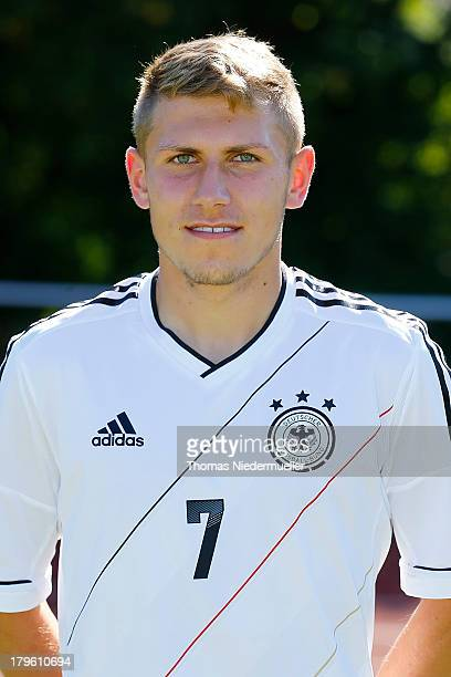 Levent Aycicek poses during a photocall of the Under 20 National Football Team on September 5 2013 in Bad Saulgau Germany