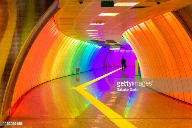 levent metro station, levent, istanbul. - contemporary istanbul foto e immagini stock