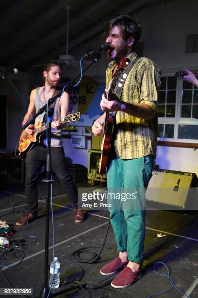 Levente Szucs of Bohemian Betyars perform onstage at Sounds from Hungary during SXSW at Palm Door on March 16 2018 in Austin Texas