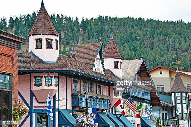 levenworth architecture - leavenworth washington stock photos and pictures