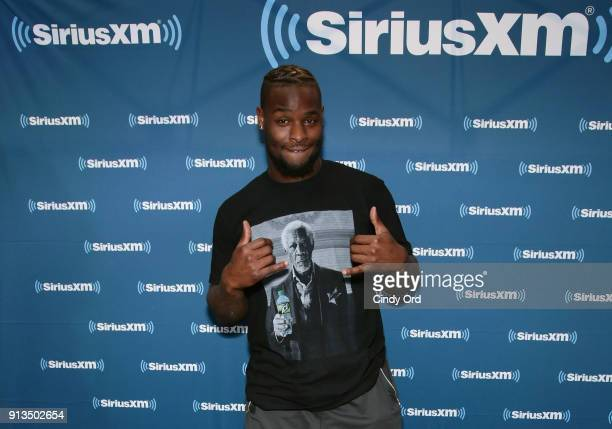Le'Veon Bell of the Pittsburgh Steelers attends SiriusXM at Super Bowl LII Radio Row at the Mall of America on February 2, 2018 in Bloomington,...