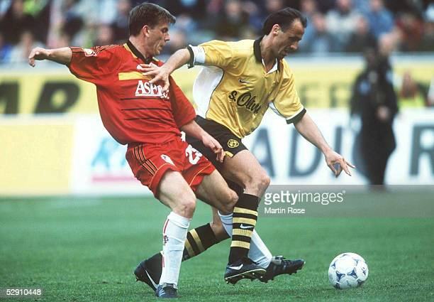 BUNDESLIGA 99/00 Leverkusen BAYER 04 LEVERKUSEN BORUSSIA DORTMUND 31 Bernd SCHNEIDER/LEVERKUSEN Juergen KOHLER/DORTMUND