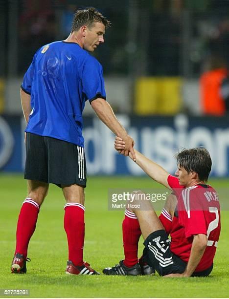 LEAGUE 02/03 Leverkusen BAYER 04 LEVERKUSEN MANCHESTER UNITED 12 Bernd SCHNEIDER Thomas BRDARIC/LEVERKUSEN