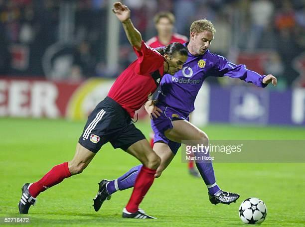 LEAGUE 02/03 Leverkusen BAYER 04 LEVERKUSEN MANCHESTER UNITED Boris ZIVKOVIC/BAYER Nicky BUTT/UNITED