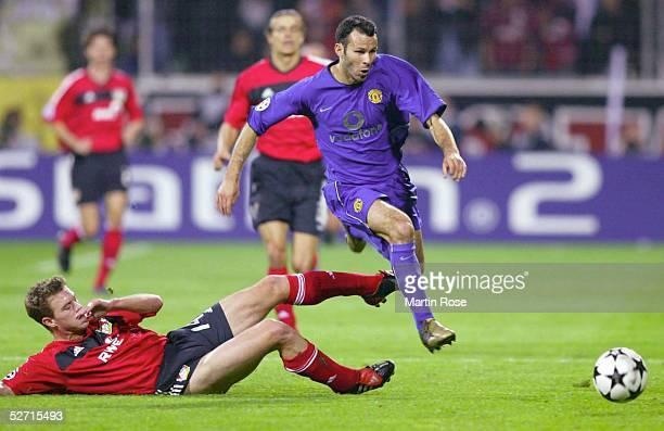 LEAGUE 02/03 Leverkusen BAYER 04 LEVERKUSEN MANCHESTER UNITED Ryan GIGGS/UNITED Hanno BALITSCH/ LEVERKUSEN