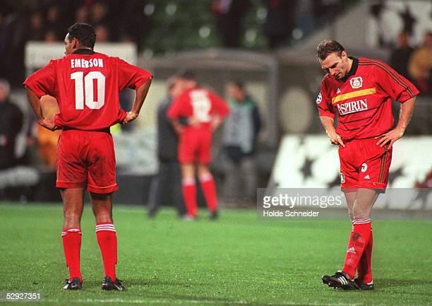 Leverkusen BAYER 04 LEVERKUSEN NK MARIBOR 00 EMERSON und Jens NOWOTNY/Leverkusen